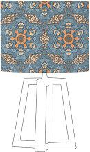 Abat-jour bleu imprimé beige d 35 cm