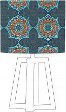 Abat-jour bleu imprimé orange d 100 cm