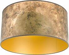 Abat-jour bronze 50/50/25 avec intérieur doré