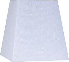 Abat-jour carré pyramide blanc en lin