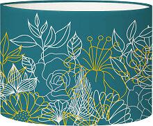 Abat-jour chevet Bouquet Bleu Canard D 25 x H 20