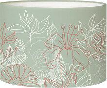 Abat-jour chevet Bouquet Vert Olive D 25 x H 20