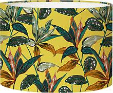 Abat-jour chevet forêt jaune acidulé D 25 x H 20