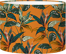 Abat-jour chevet forêt orange acidulé D 25 x H 20
