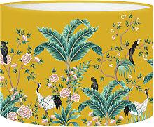 Abat-jour chevet Jungle Jaune Moutarde D 25 x H 20