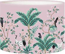 Abat-jour chevet Jungle Rose Poudré D 25 x H 20