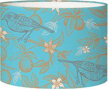 Abat-jour chevet oiseau bleu acidulé D 25 x H 20