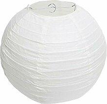Abat-jour classique en papier blanc rond style