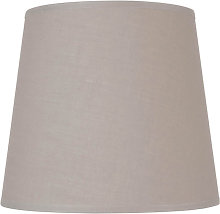 Abat-jour conique gris clair - diamètre 22cm