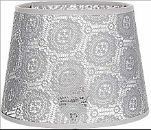 Abat-jour conique gris pour lampe de chevet, lampe