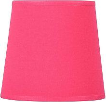 Abat-jour conique rose framboise