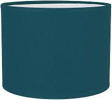 Abat-jour cylindre bleu pétrole