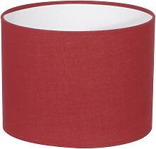 Abat-jour cylindre rouge cerise
