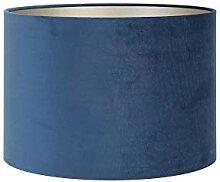 Abat-jour cylindrique 35-35-30 cm VELOURS Bleu