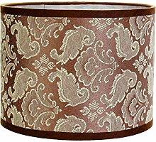 Abat-jour cylindrique en tissu Taupe pour lampe de
