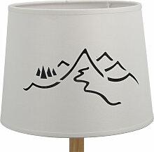 Abat-jour cylindrique montagne en impression blanc