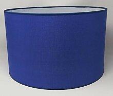 Abat-Jour Cylindrique Tissu en Coton Fait à la