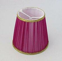Abat-jour de lampe de couleur rose DIA 15cm,
