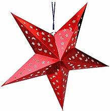 Abat-jour de Noël en forme d'étoile de 30 cm