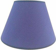 Abat-jour de table fait main en coton bleu 30,5 cm