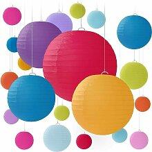 Abat-jour décoratif coloré (20 pièces couleurs
