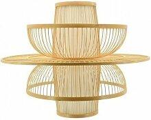 Abat-jour design en bambou naturel