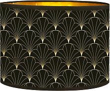 Abat-jour doré imprimé noir Flora D 25 x H 18