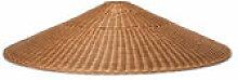 Abat-jour Dou / Rotin tressé main - Ø 90 x H 21