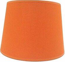 Abat-jour Empire en coton fait main Orange 25,4 cm