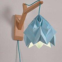 Abat-jour en origami Home Study Bedroom E27