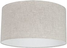 Abat-jour en tissu gris clair 50/50/25 Moderne