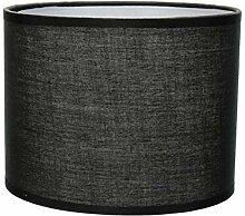 Abat-jour en tissu noir pour lampe de table E14 Ø