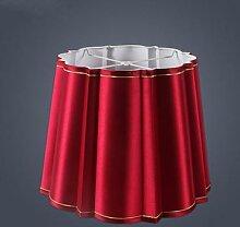 Abat-jour en tissu rouge et vert, E27, Art pour