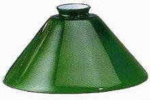 Abat-jour en verre conique vert 25 cm