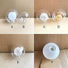 Abat-jour en verre G9 D8/10/12/15/20cm, Globe 2cm,