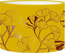 Abat-jour jaune moutarde d 25 cm