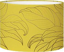 Abat-jour Lampadaire feuille jaune acidulé D 45 x