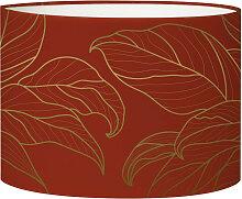 Abat-jour Lampadaire feuille rouge acidulé D 45 x