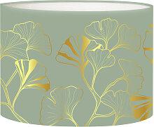 Abat-jour Lampadaire Iris Vert Olive D 45 x H 25