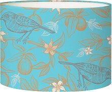 Abat-jour Lampadaire oiseau bleu acidulé D 45 x H
