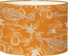 Abat-jour Lampadaire oiseau orange acidulé D 45 x