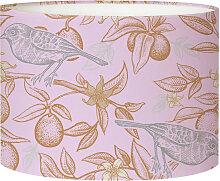 Abat-jour Lampadaire oiseau rose acidulé D 45 x H
