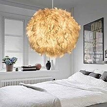 Abat-jour moderne en forme de plume pour chambre