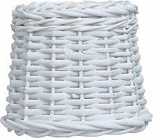 Abat-jour Osier 20x15 cm Blanc