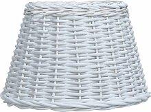 Abat-jour Osier 45x28 cm Blanc
