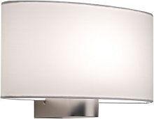 Abat-jour oval NAPOLI / SOFIA, Blanc
