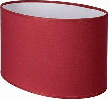 Abat-jour ovale droit rouge cerise pas cher