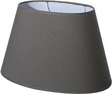 abat-jour ovale gris poivre