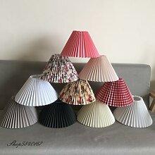 Abat-jour plissé pour lampe autoportante, Style