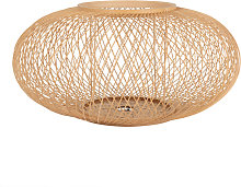 Abat-jour pour suspension en bambou beige D46